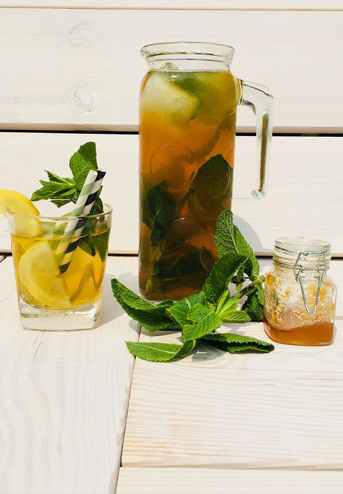 Recept: Peppermint Honey Green Iced Tea